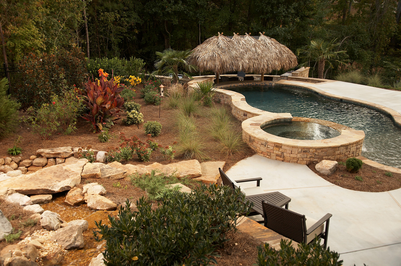 Tropical Backyard Oasis | Classic Landscapes on Tropical Backyard  id=81525